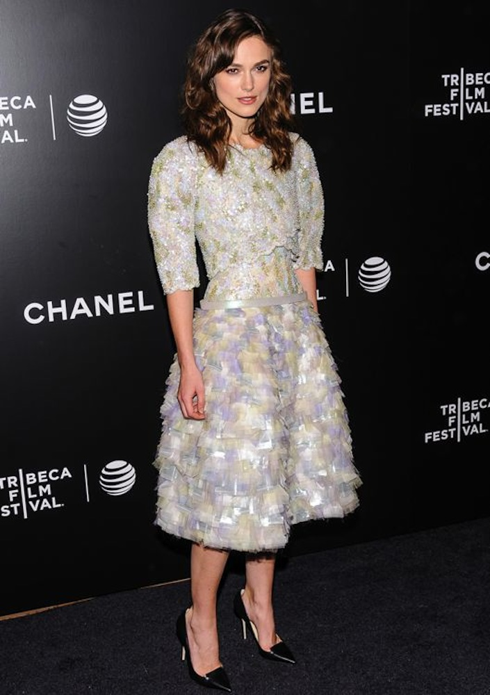 Keira Knightley at the Premiere of Begin Again