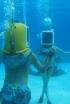 Rose McGowan Goes Deep Sea Dancing