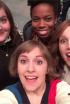 Lena Dunham's Pre-Show Selfie