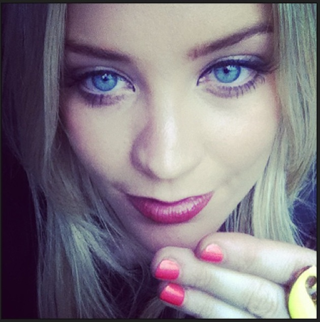 Laura Whitmore's Bright Nails