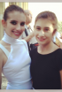 Emma Roberts and Sis at Versace