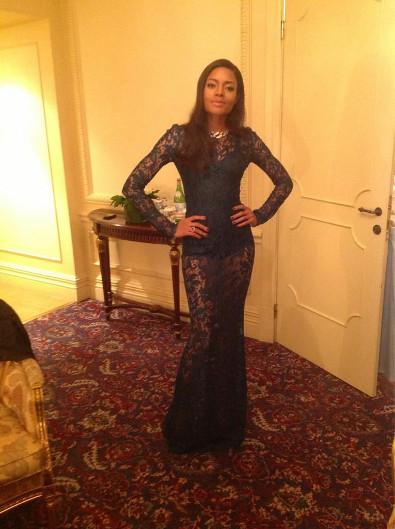 Naomie Harris Embraces the Sheer Dress Trend