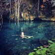 Lara Bingle Swims in a Cenote
