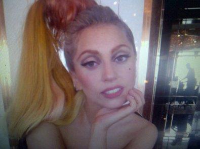 Lady Gaga Wears a Hair Scrunchie