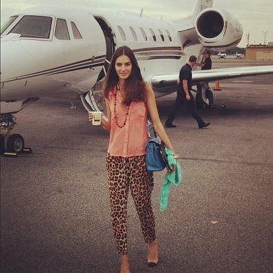 Emina Cunmulaj leaves on a jet plane