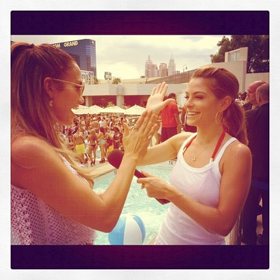 Maria Menounos High-Fives J Lo