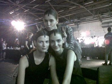 Bette Franke Backstage at Alexander Wang
