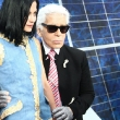 Leigh Lezark Hangs Out with Karl Lagerfeld at PFW