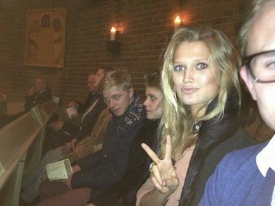 Toni Garrn in Church