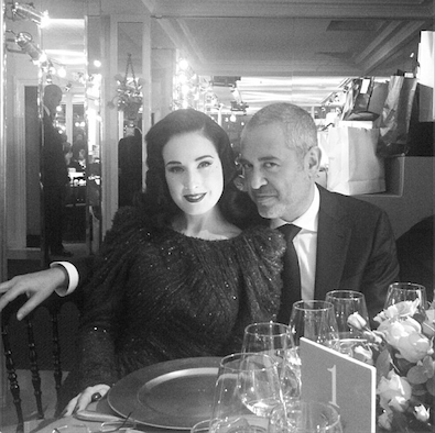 Elie Saab and Dita Von Teese