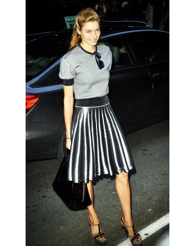 Jessica Hart Arrives at Calvin Klein