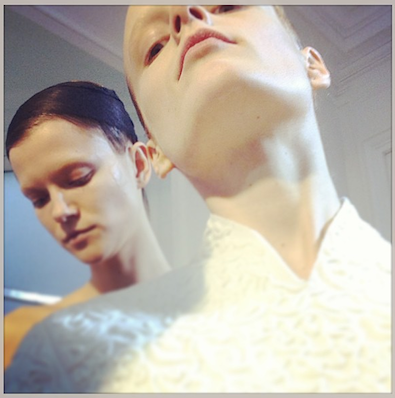 Hanne Gaby Odiele at Balenciaga