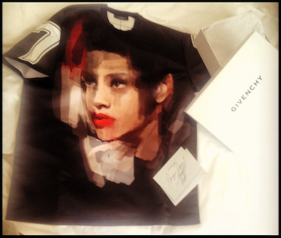 Rihanna's Face on a Givenchy Tee