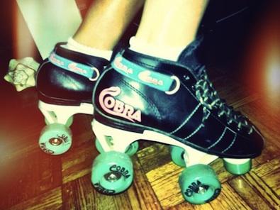 Alison Brie on Skates