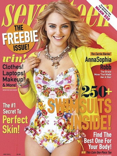AnnaSophia Robb on the Cover of Seventeen