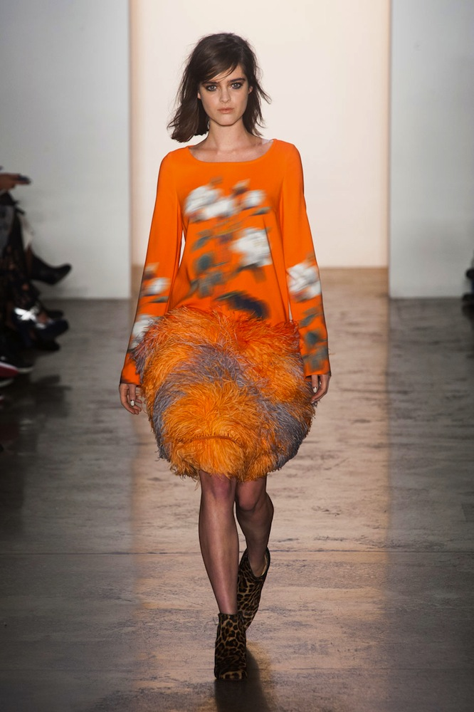 Feathers at Peter Som
