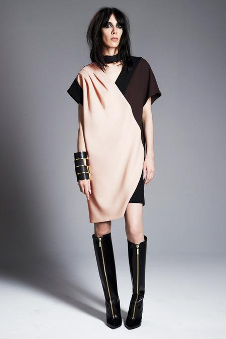 Emanuel Ungaro's Asymmetrical Colorblock Dress