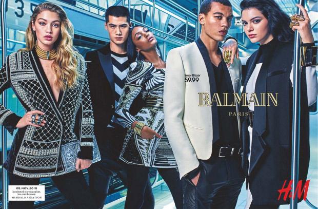 Balmain x H&M Ad Campaign by Mario Sorrenti