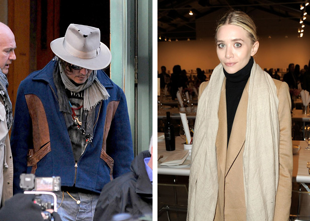 Johnny Depp & Ashley Olsen