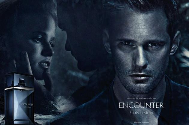 Calvin Klein Encounter fragrance ad - Lara Stone, Alexander Skarsgard