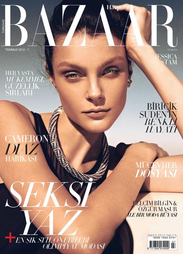Harper's Bazaar July 2012 - Jessica Stam by Koray Birand