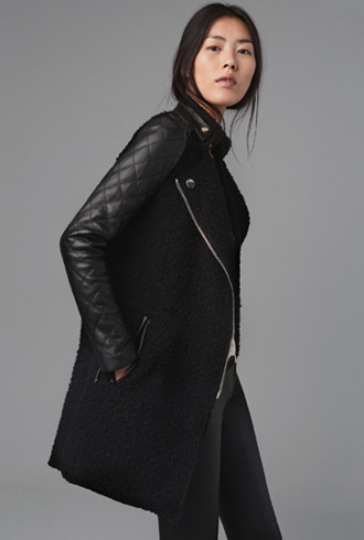 Forum buys - Zara leather sleeve coat