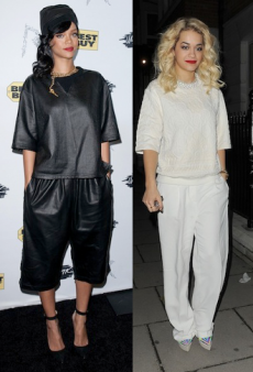 Seeing Double: Rihanna and Rita Ora in Slouchy Suits and More