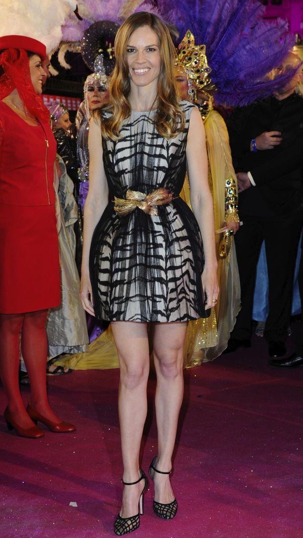 Hilary Swank Shines Wears Giambattista Valli In Vienna