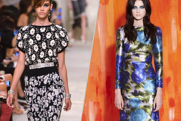 Moody Florals - Chanel and Michael Van Der Ham Resort 2014