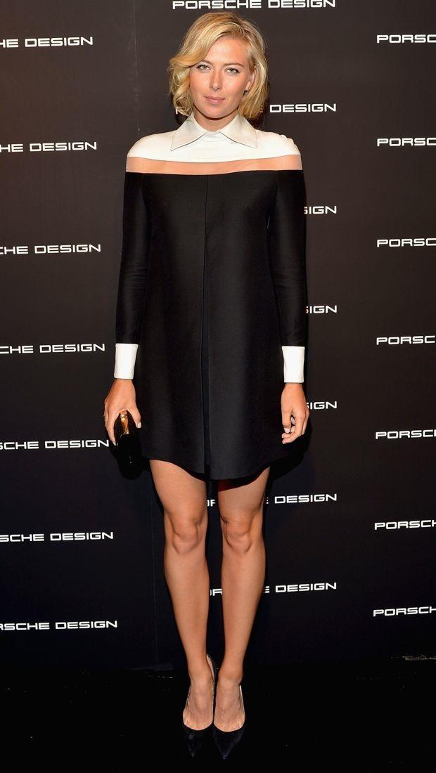 Maria Sharapova S Structured White And Black Valentino