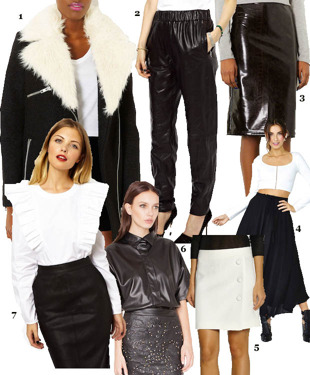 celeb gtl white black clothes collage