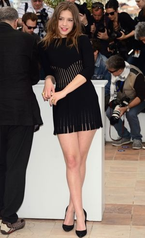 Adele-Exarchopoulos-66th Annual Cannes Film Festival-Photocall-for-Blue-is-the-Warmest-Color-May-2013