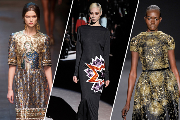 Dolce & Gabbana, Tom Ford and Naeem Khan, images: imaxtree