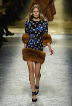 Blumarine Cultivates a Floral-Themed Fall 2014 Collection (Runway Review)
