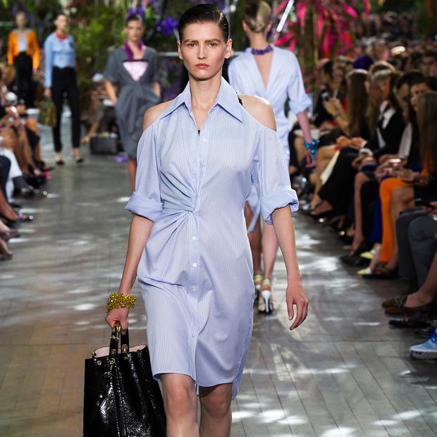 shirtdress at Christian Dior Spring 2014