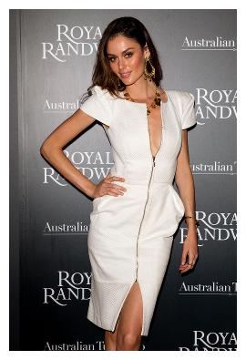 Nicole Trunfio white dress