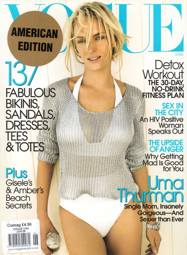 Flashback, US Vogue June 2006 Uma Thurman