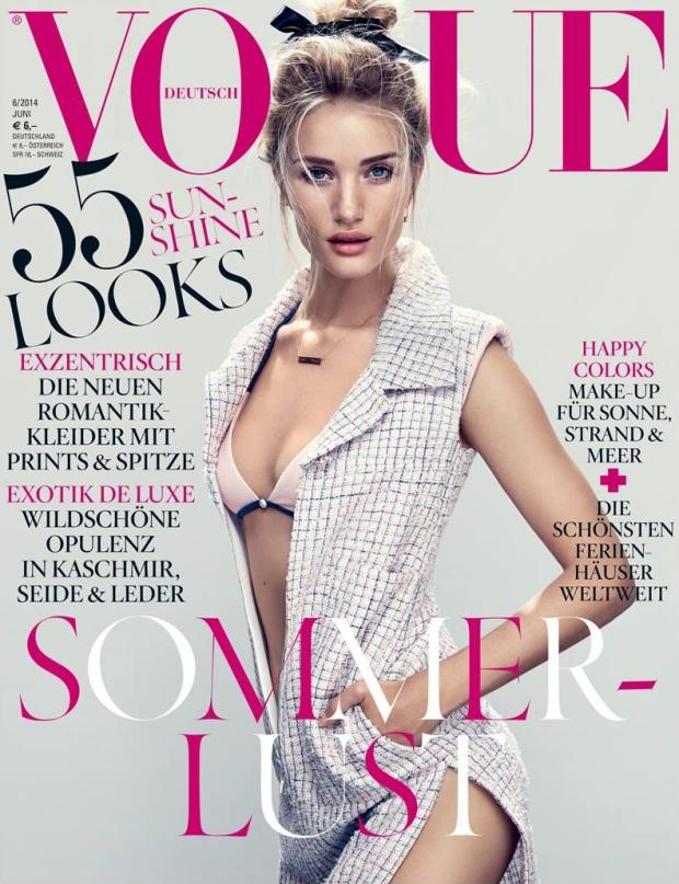 Vogue Germany June 2014 Rosie Huntington-Whiteley