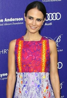 Jordana Brewster at the Butterfly Ball in Peter Pilotto's Colorful Floral Lace Dress
