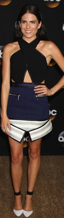 Karla Souza in Three Floor's mini dress