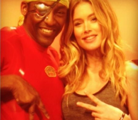Michael olajide with doutzen kroes