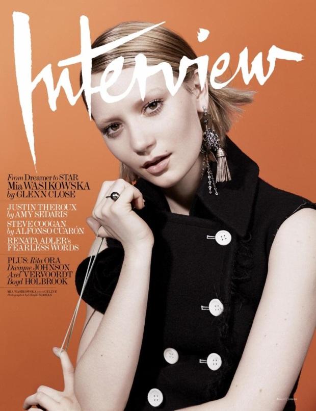 Interview August 2014 Mia Wasikowska Craig McDean