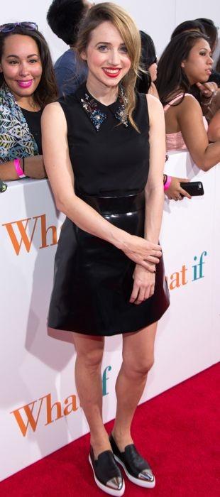 Zoe Kazan wears Miu Miu top the What If New York Fan Screening