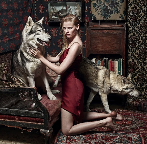 Kate Moss Styles Lara Stone for UK Vogue's September 2014 Issue