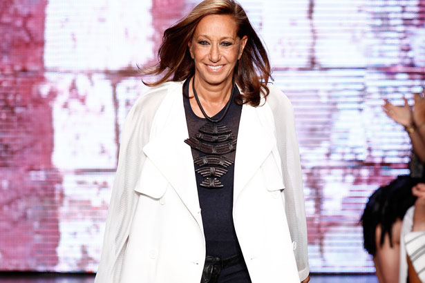 Donna Karan at the DKNY Spring 2015 show