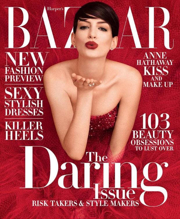 US Bazaar November 2014 Anne Hathaway