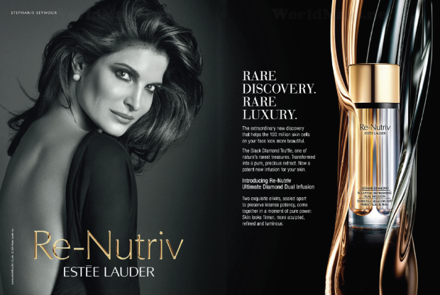 Estée Lauder Re-Nutriv Ad Campaign Stephanie Seymour