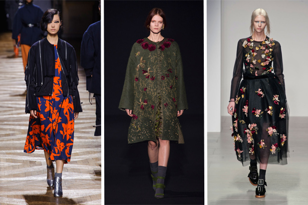 Dries Van Noten, Alberta Ferretti, John Rocha Fall 2014