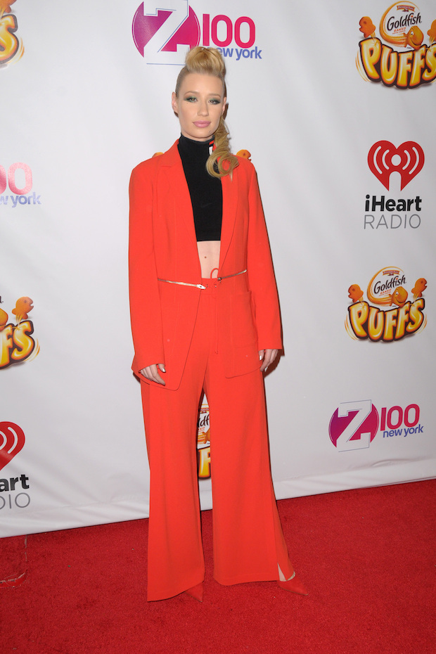 Iggy Azalea Goes Orange For Z100 S 2014 Jingle Ball