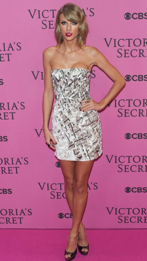 Taylor Swift in J. Mendel at the Victoria's Secret Fashion Show